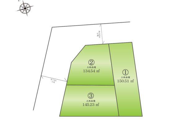 閑静な住宅街!約26.7帖屋上付 全3邸2区画分譲開始